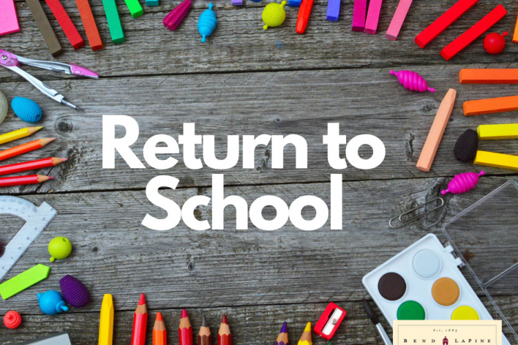 Return to school with school supplies