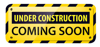 Caution Tape saying Under Construction: Coming Soon