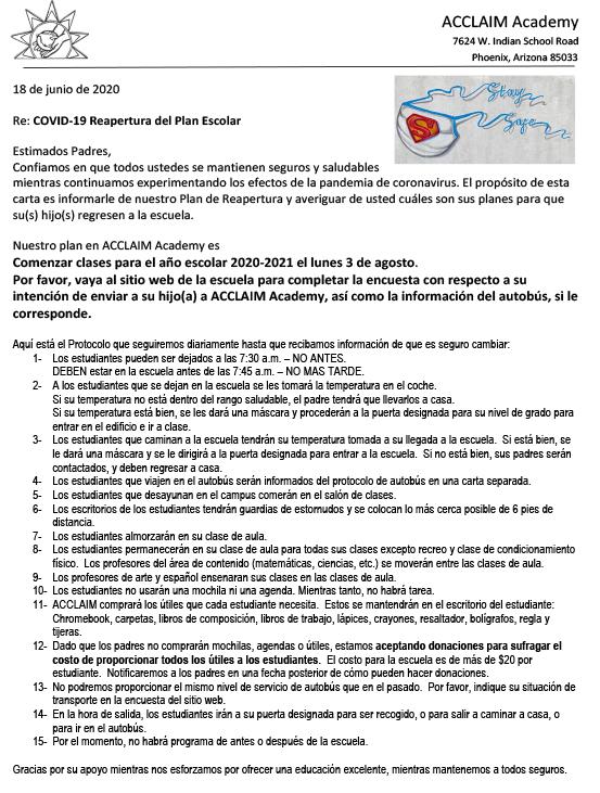 Covid19 Reopening Plan Espanol