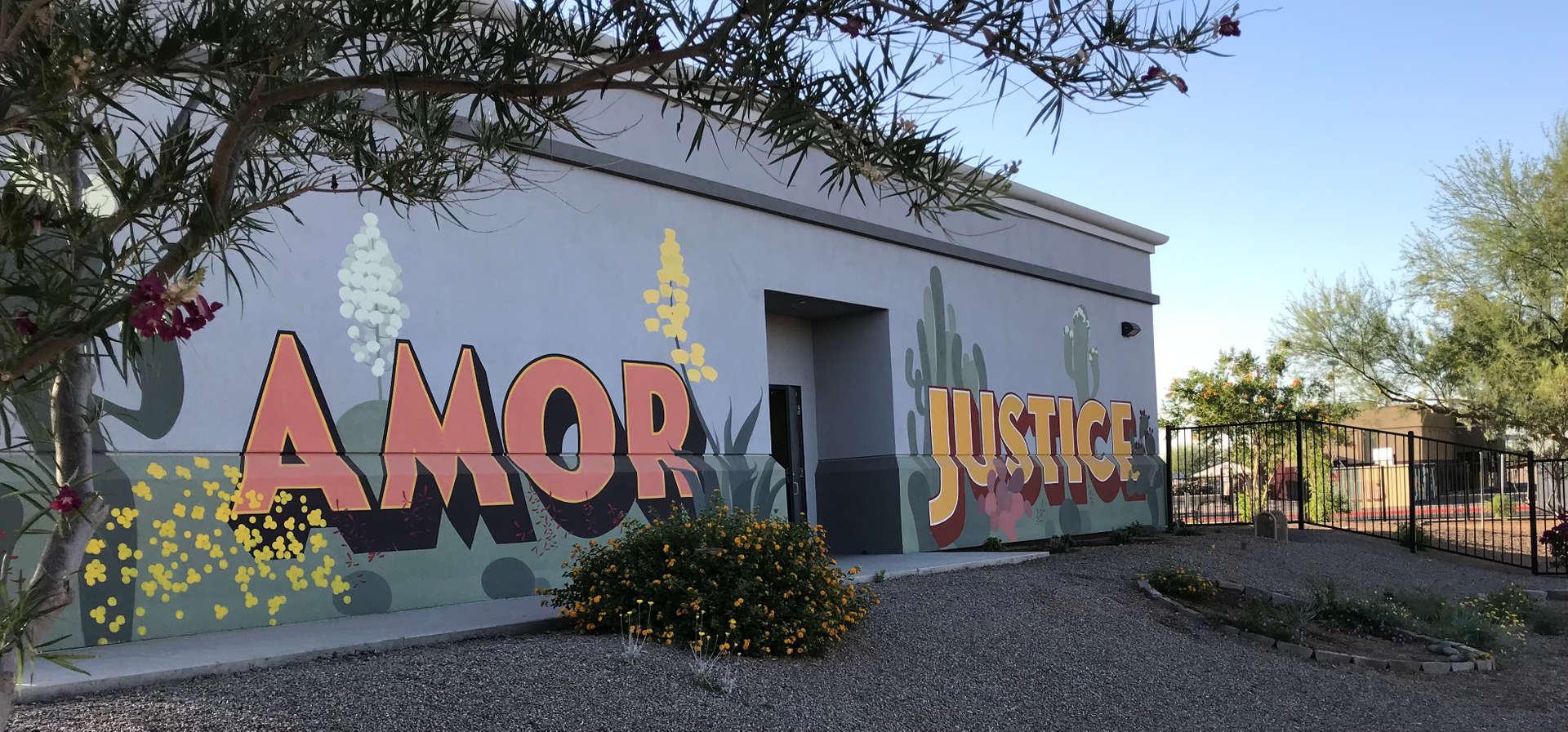 Amor Justice mural