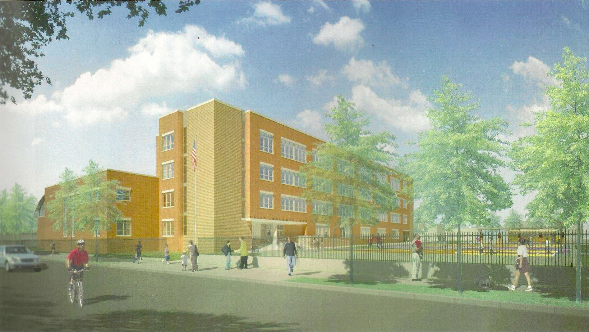 Rendition of PS/IS 48 building