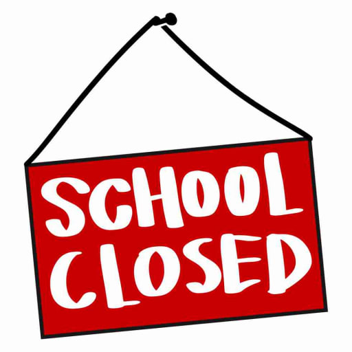 School is closed sign