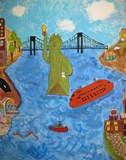 Student mural of NYC