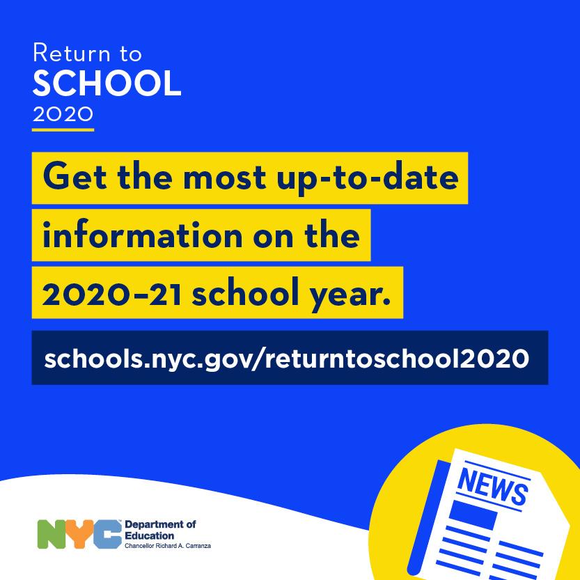 DoE Return to School Logo