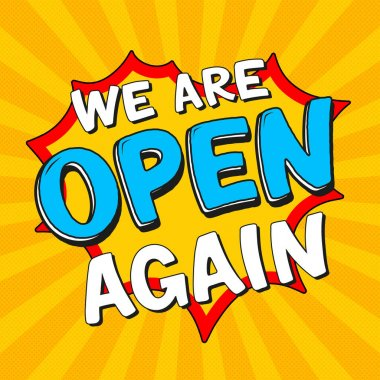 School is reopened sign