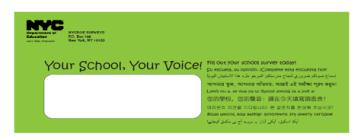 Green NYC survey envelope