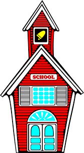 Clipart of a little red school house