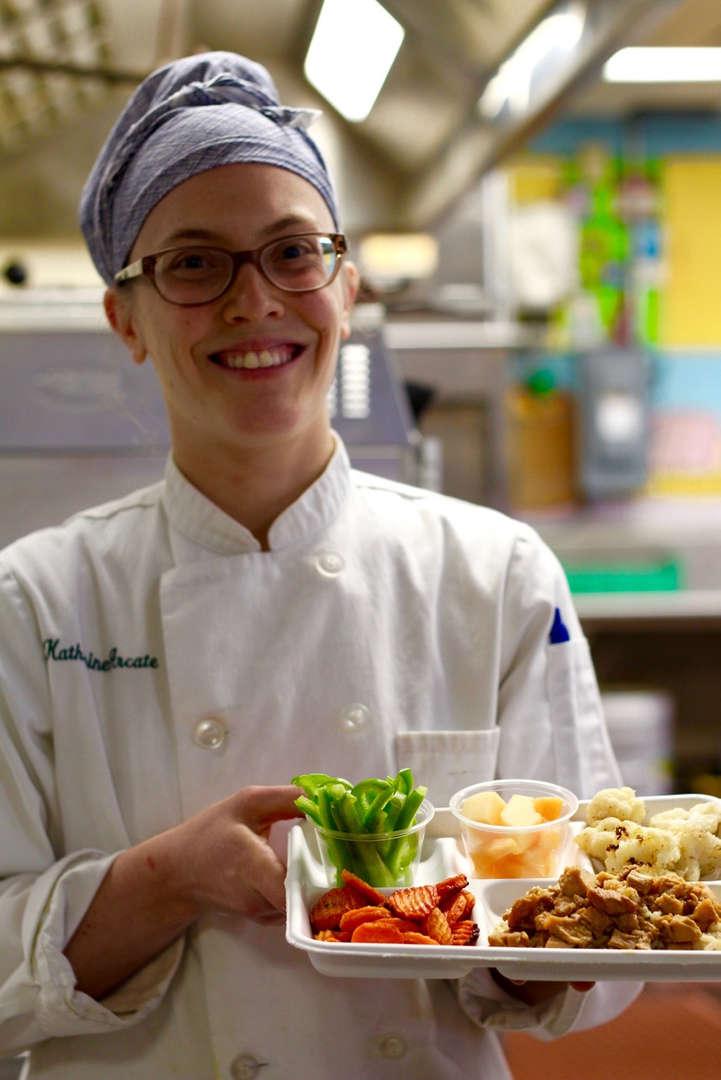 Chef Kassie of Pocantico Hills School.