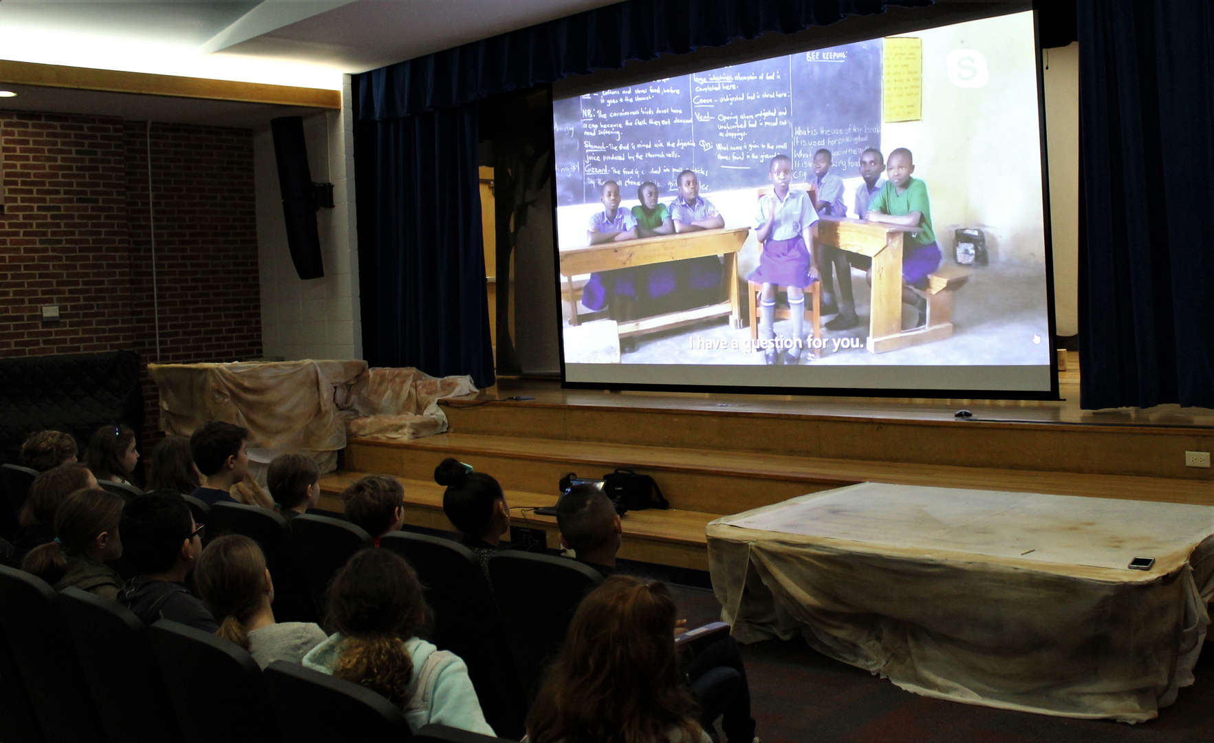 Students from all over the world got to ask questions for the Skype in the Classroom event.