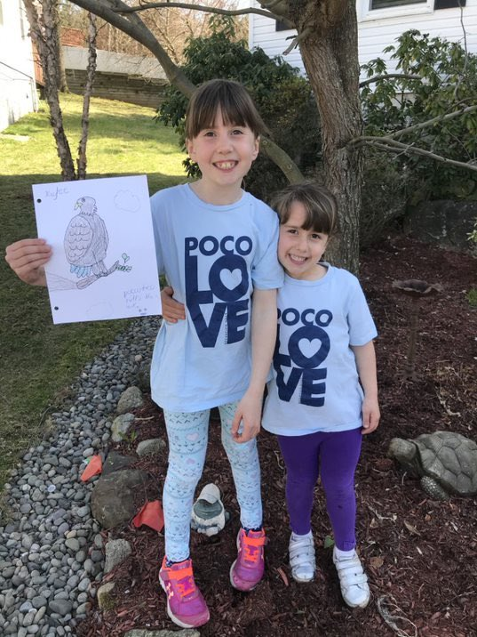 "Two sisters wore ""Poco Love"" shirts during Poco Spirit Week."