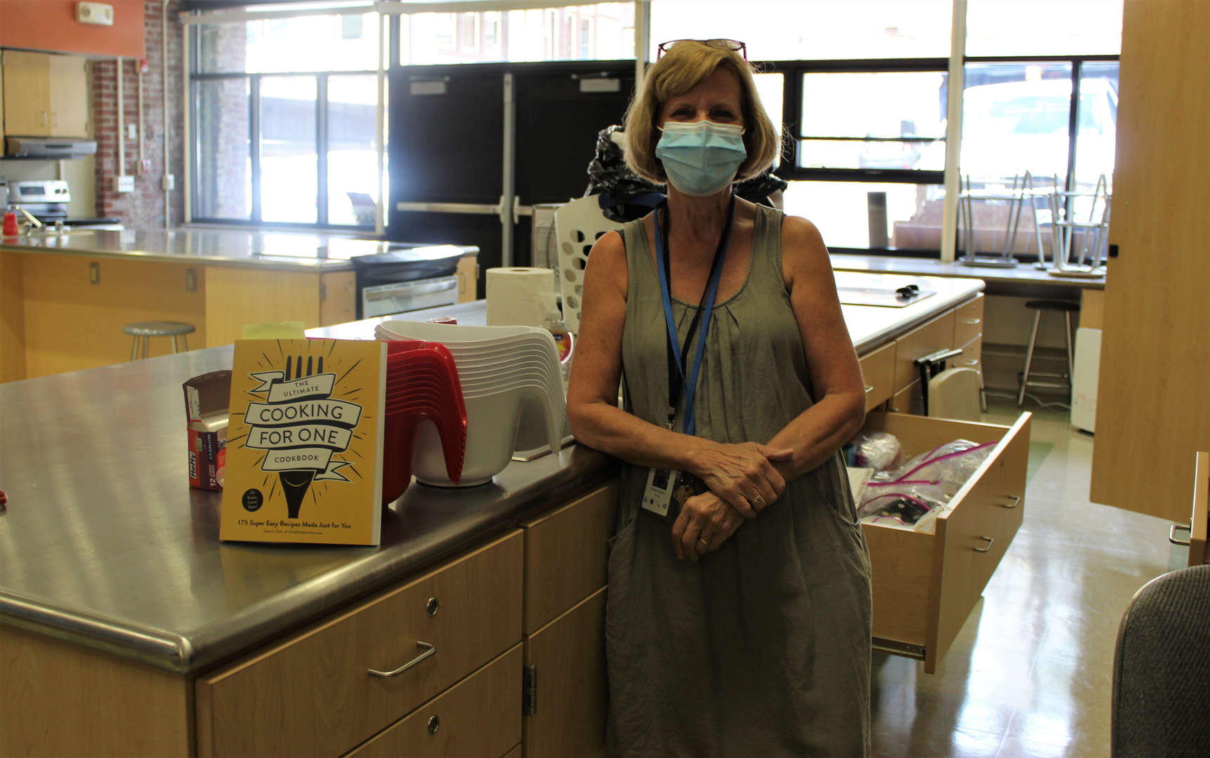Family and Consumer Science teacher Denis McGraw in her classroom.