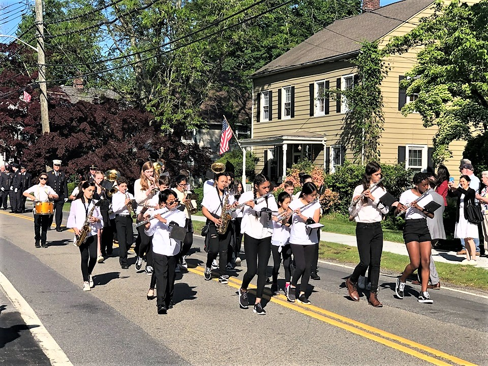 The school band marched in the Pocantico Memorial Day Parade.