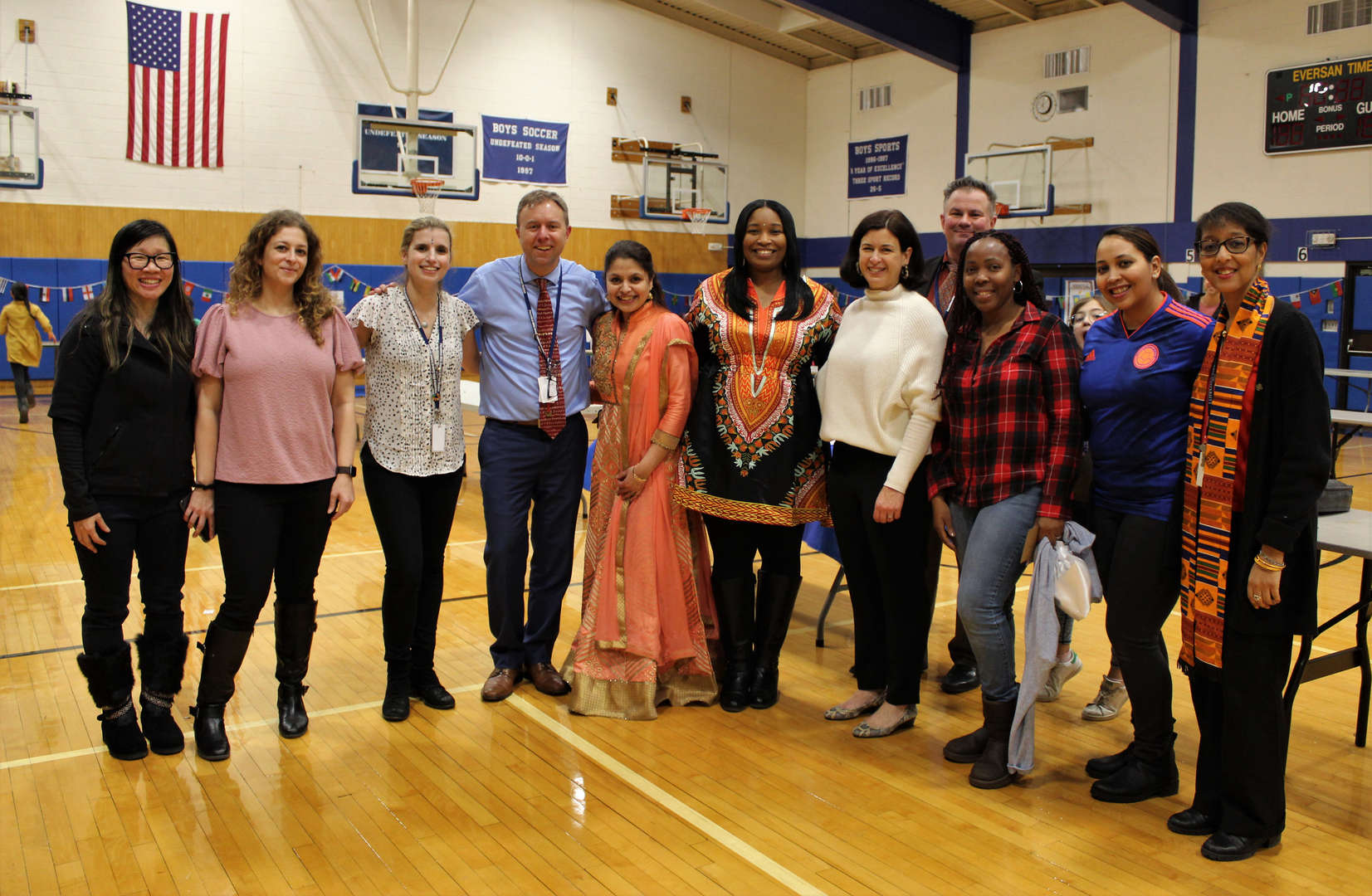 The school's Diversity Committee members pose for a group photo.