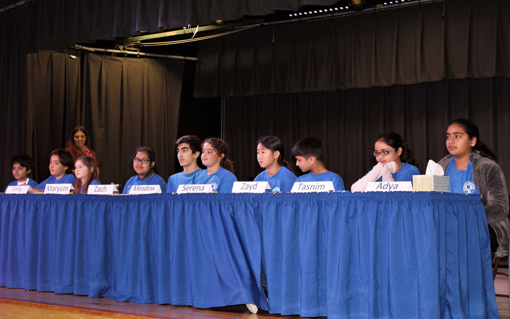 Ten students in grades 4-8 competed in the annual Geography Bee.