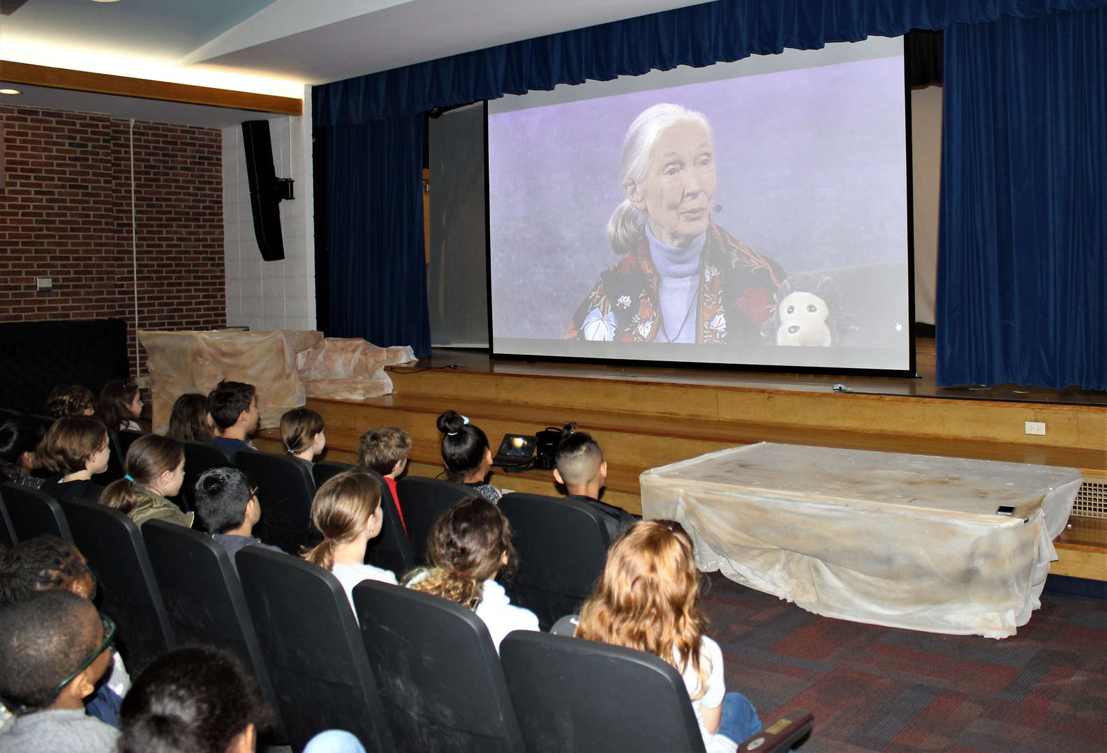 Jane Goodall during an interview for a Skype in the Classroom event.