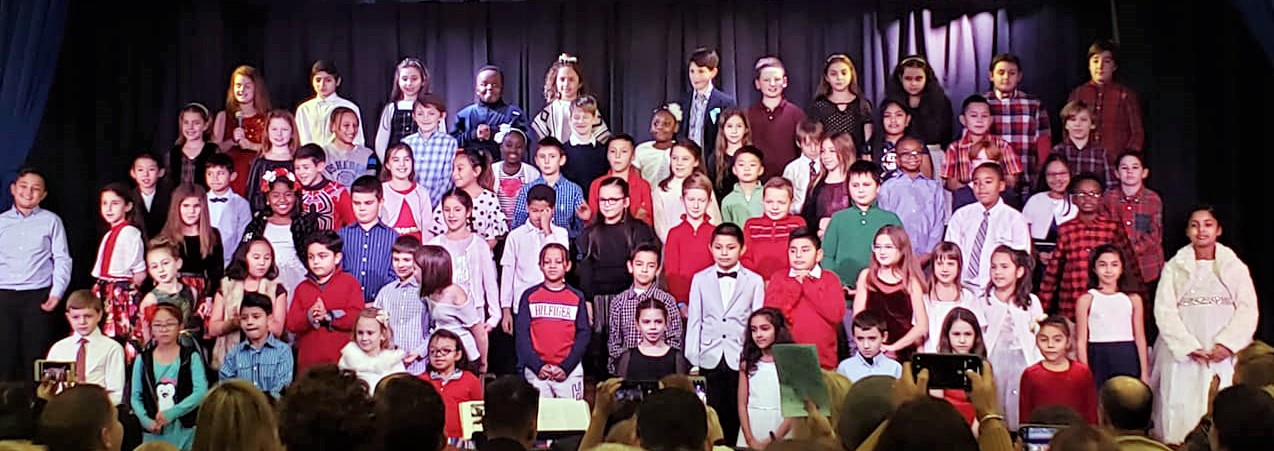 Winter Concert, third and fourth grades.
