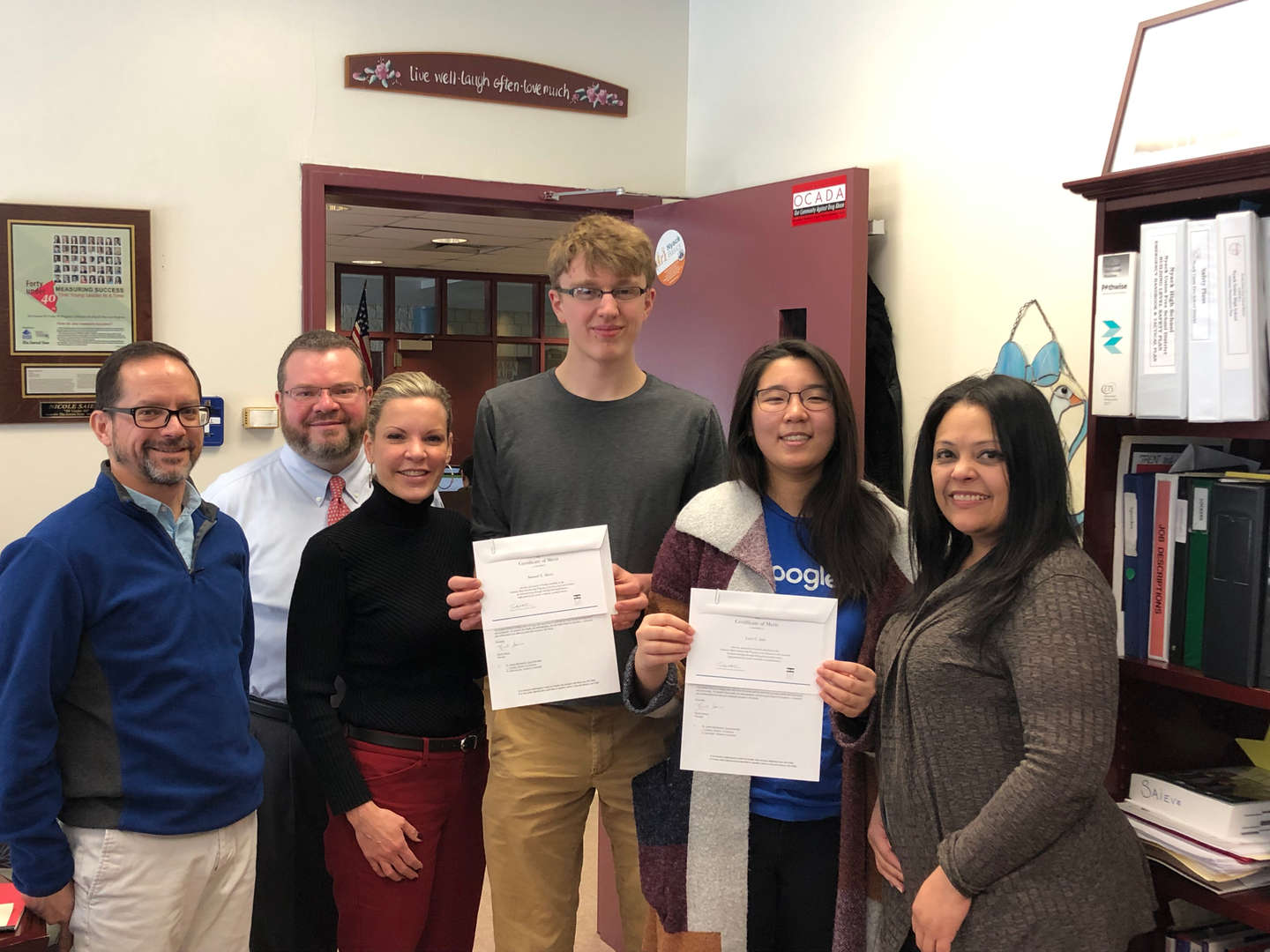Finalists in the 2019 Competition for National Merit Scholarship with Administration