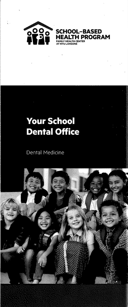 School-Based Health Program Flyer with images of children smiling