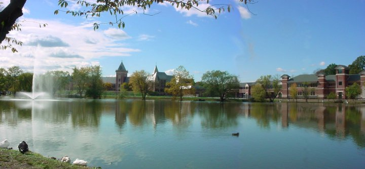 New Rochelle High School lake picture