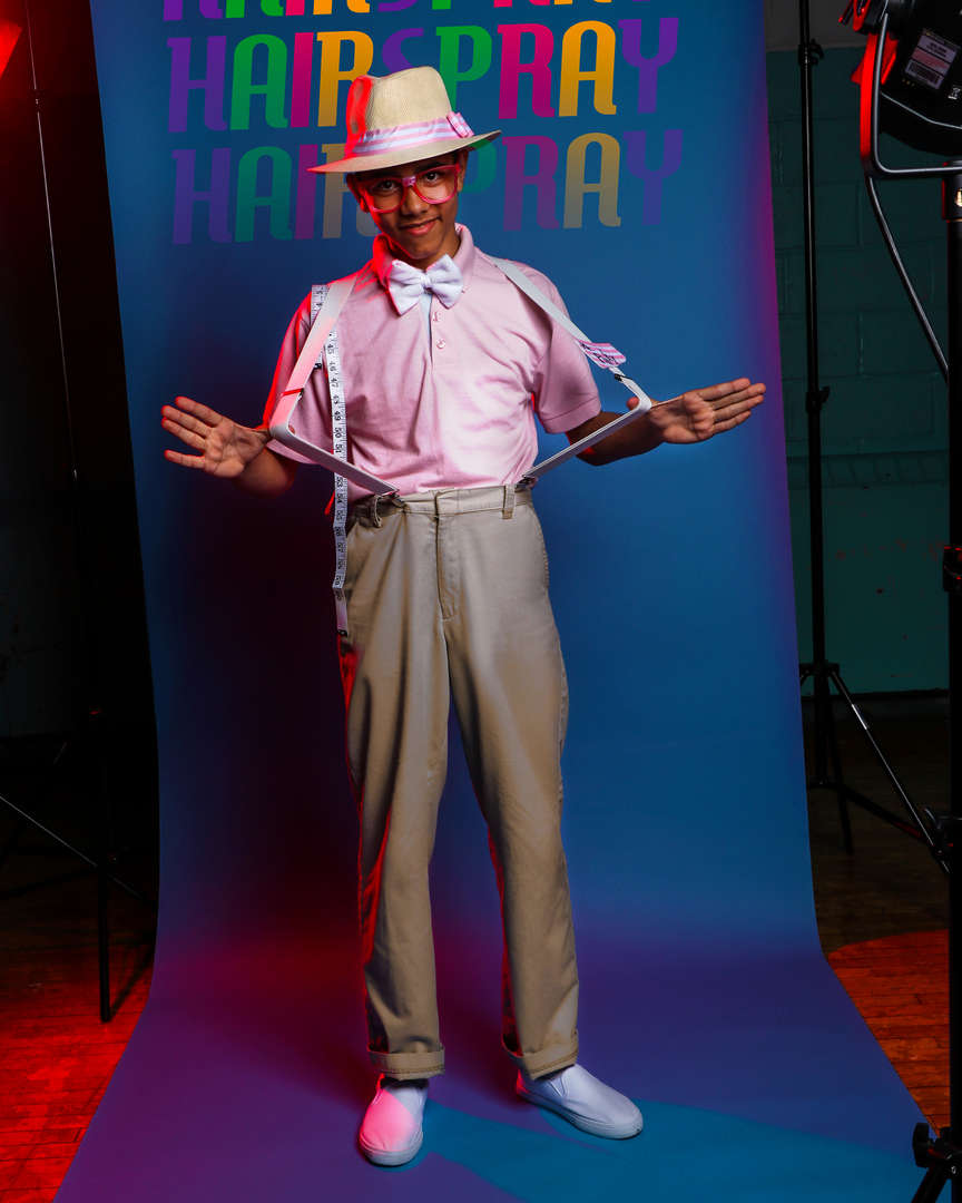 Actor with suspenders