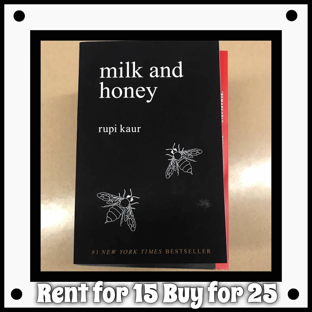 Milk & Honey by Rupi Kaur - Rent for 15, Buy for 25