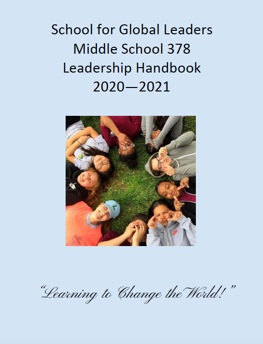 student handbook cover page