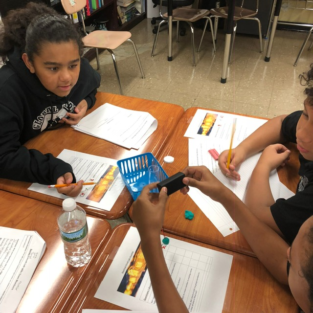 Students working on a science project.