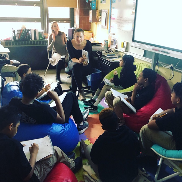 Students learning together.