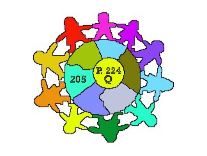 P224 Logo.  Children holing hands around the globe.