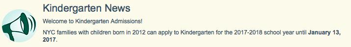 Kindergarten information link