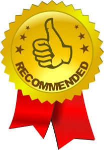 A recommendation banner with a thumbs up