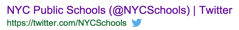 NYC DOE Twitter account Twitter/NYCSchools