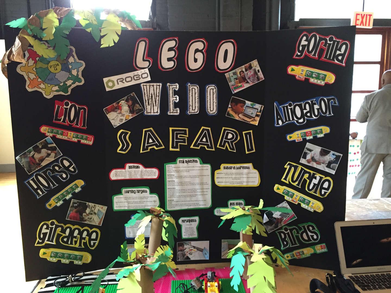 Students built a Lego Safari for the annual stem far.