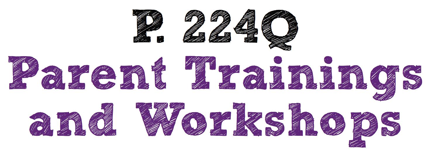 Parent Training Workshops