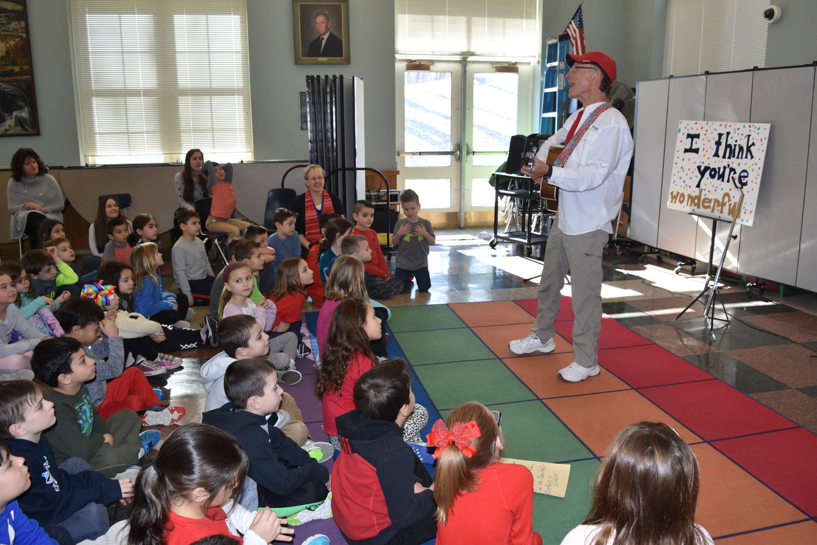 Students attend assembly on respect.