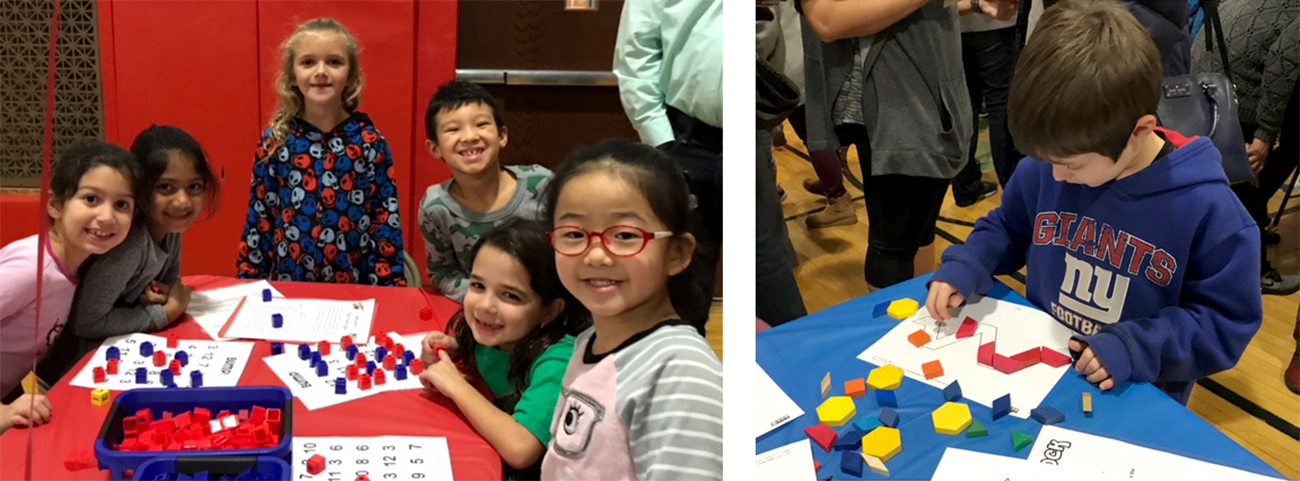 Students play math games at Math Night
