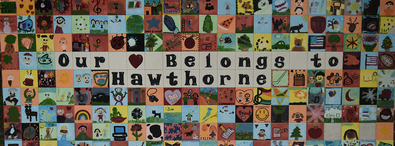 Our Heart Belongs to Hawthorne sign