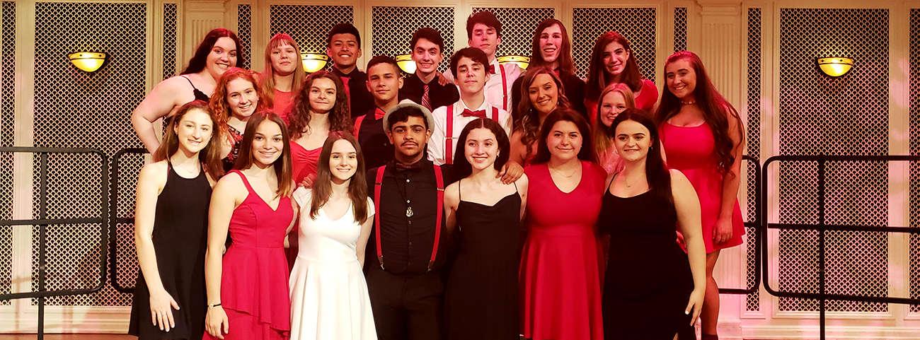 Chorus group posing at Disney Festival