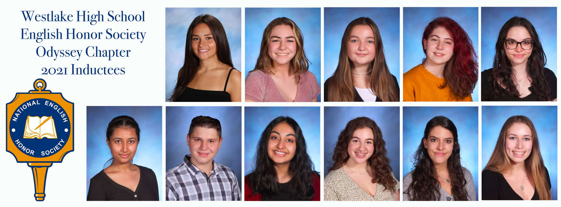 11 students newly inducted into English Honor Society