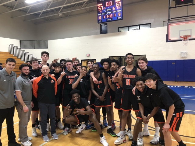 Congratulations to our Boys Basketball Team. They defeated Millbrook 67-57 in OT, in the Regional Semi-Finals.