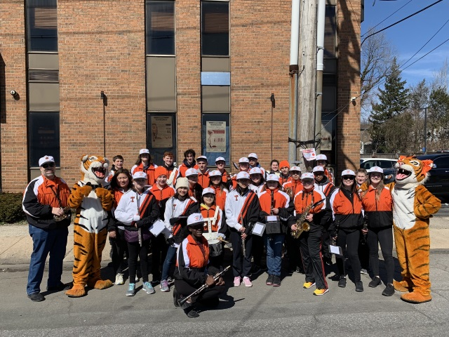 The Marching Band participated in the Yonkers St. Patrick's Day Parade.