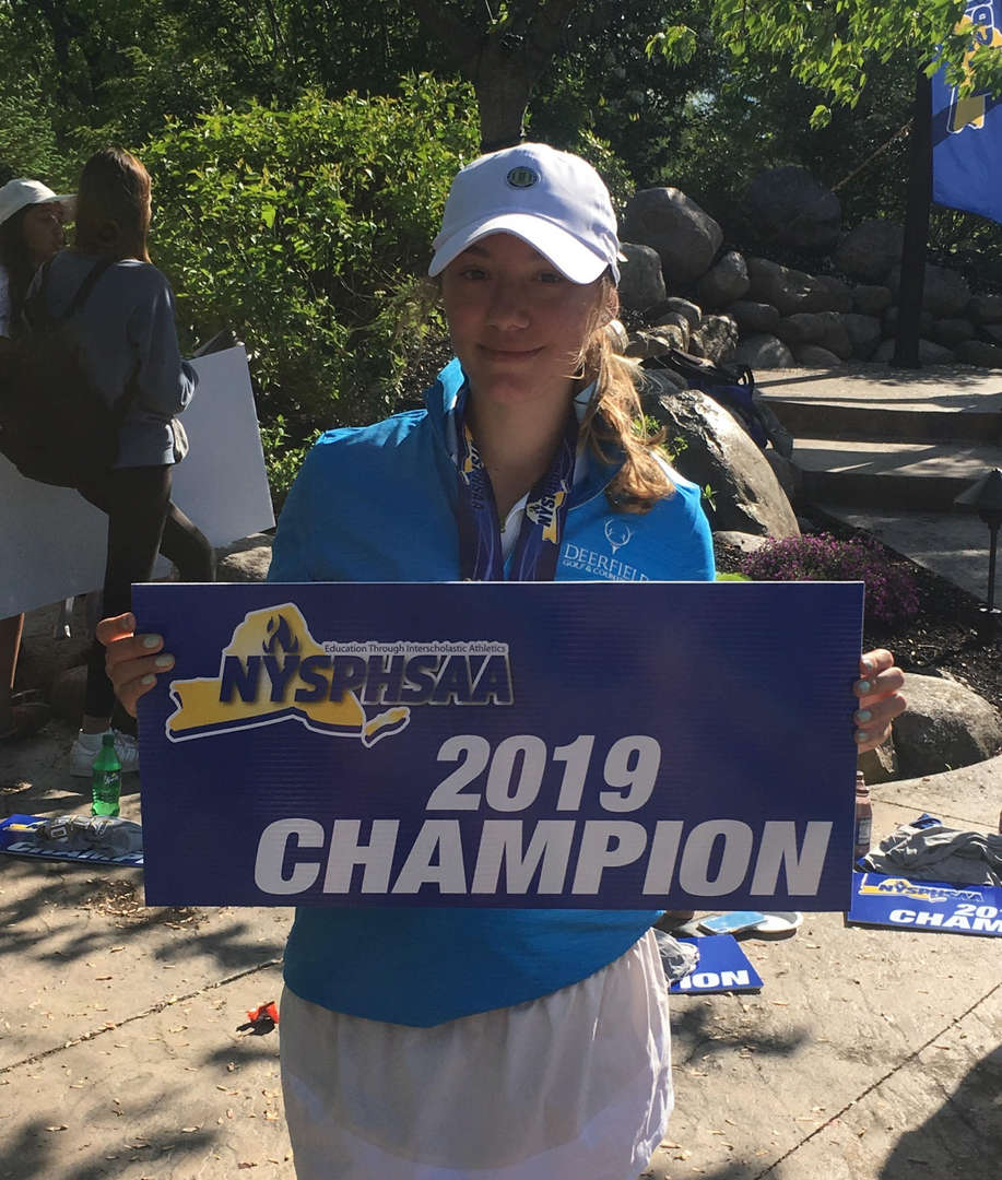 Congratulations Isabella Tushaj. Isabella competed and was declared State champion as part of the Section 1 girls golf team.