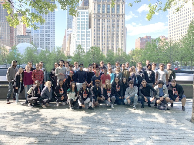 THS Class of 2019 reflects and learns visiting the 9/11 Memorial Museum.