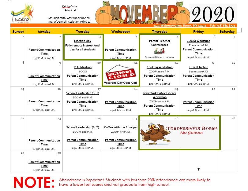 An image of the November calendar.