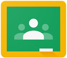 Link to the Google Classroom login page that opens in a separate tab.