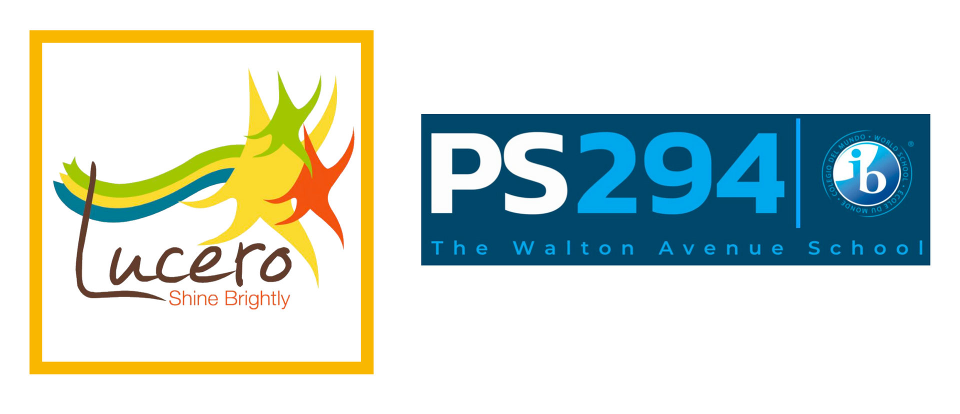 The logos of PS 311 and PS 294 displayed together, side by side