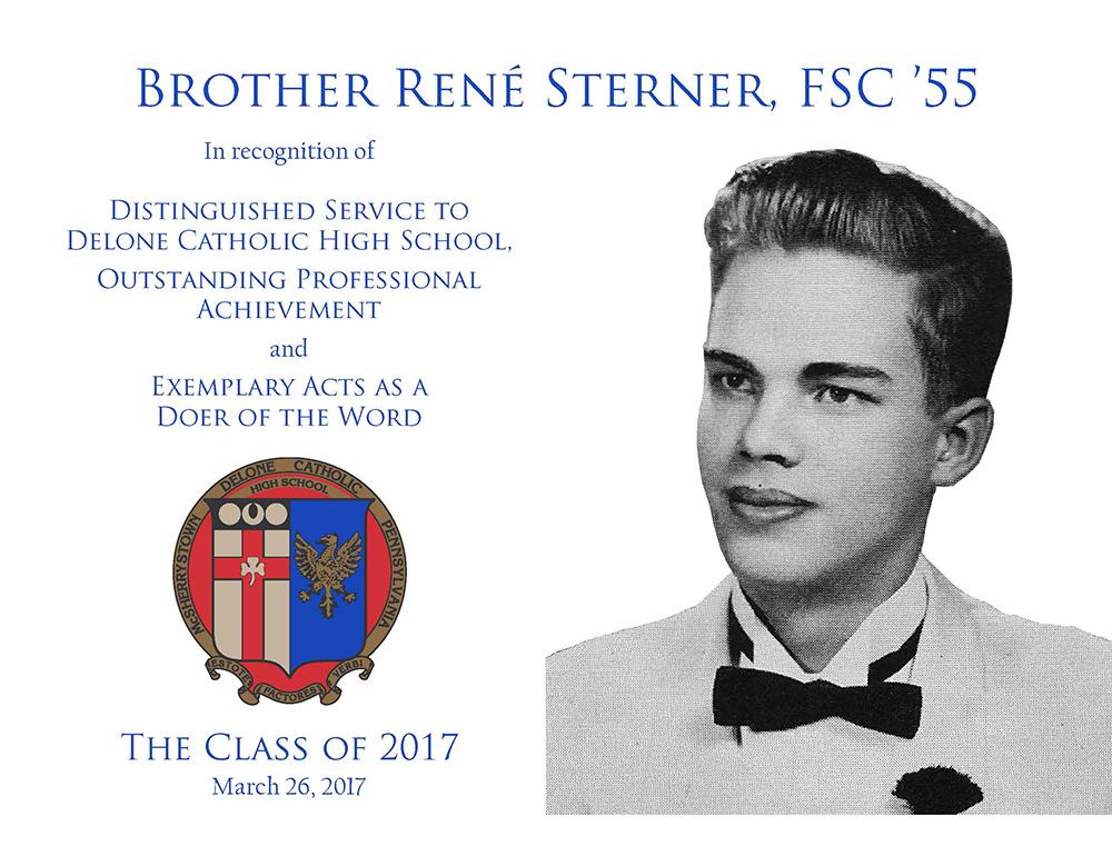 Brother Rene Sterner, FSC '55 Plaque