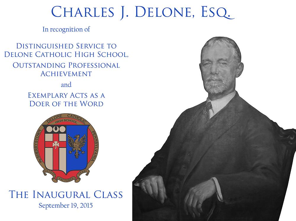 Charles J. Delone, Esq. Plaque