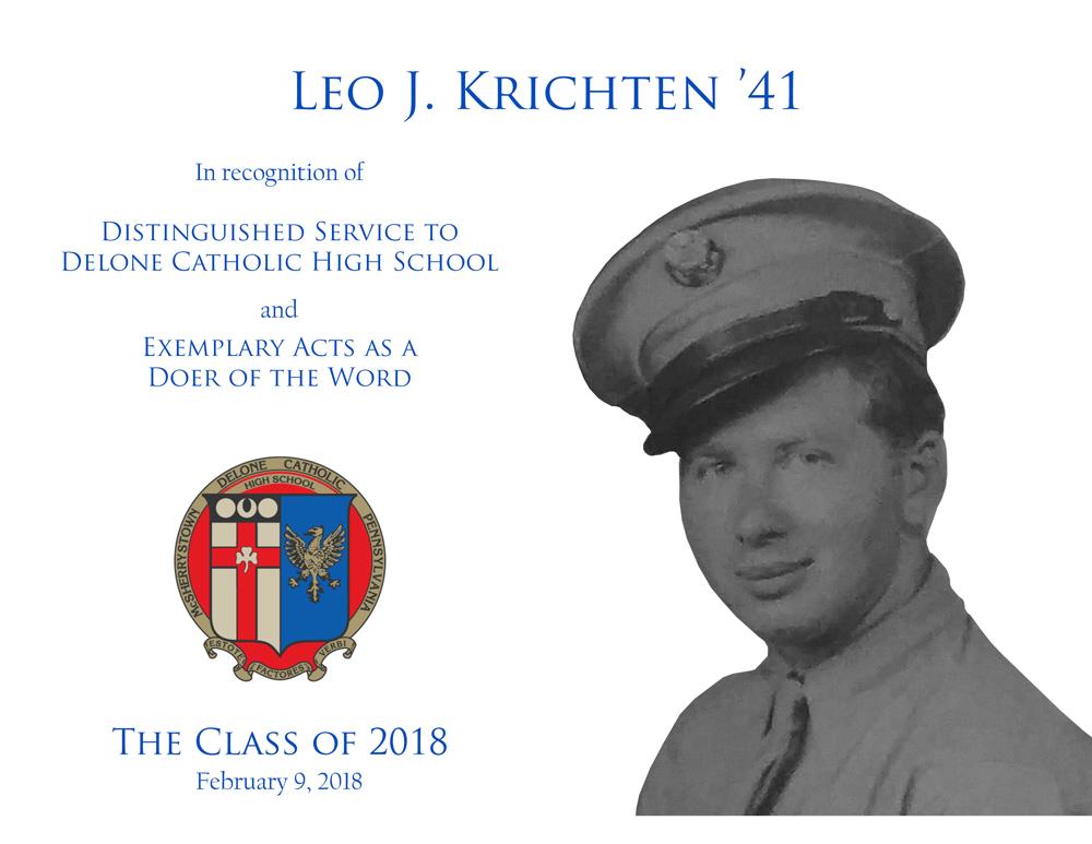 Leo J. Krichten '41 Plaque