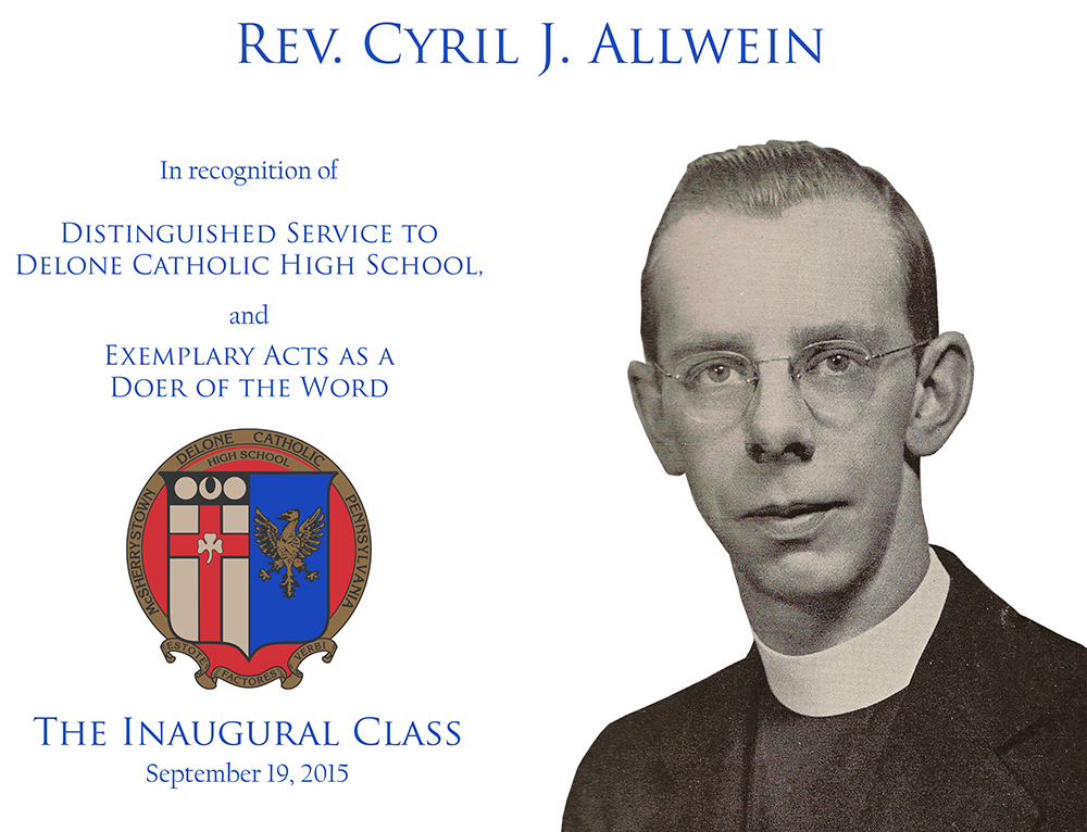 Rev. Cyril J. Allwein Plaque